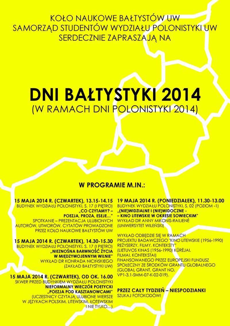 KN_2014_Dni Baltystyki 2014 plakat
